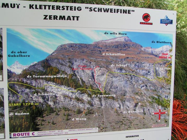 Klettersteig Zermatt : Klettersteig schweifinen route a zermatt schweiz